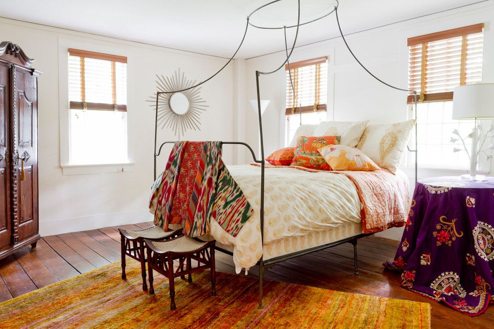 Edith Wharton House for a Farmhouse Bedroom with a My Houzz and My Houzz: Global Details Add Character to a Connecticut Farmhouse by Rikki Snyder