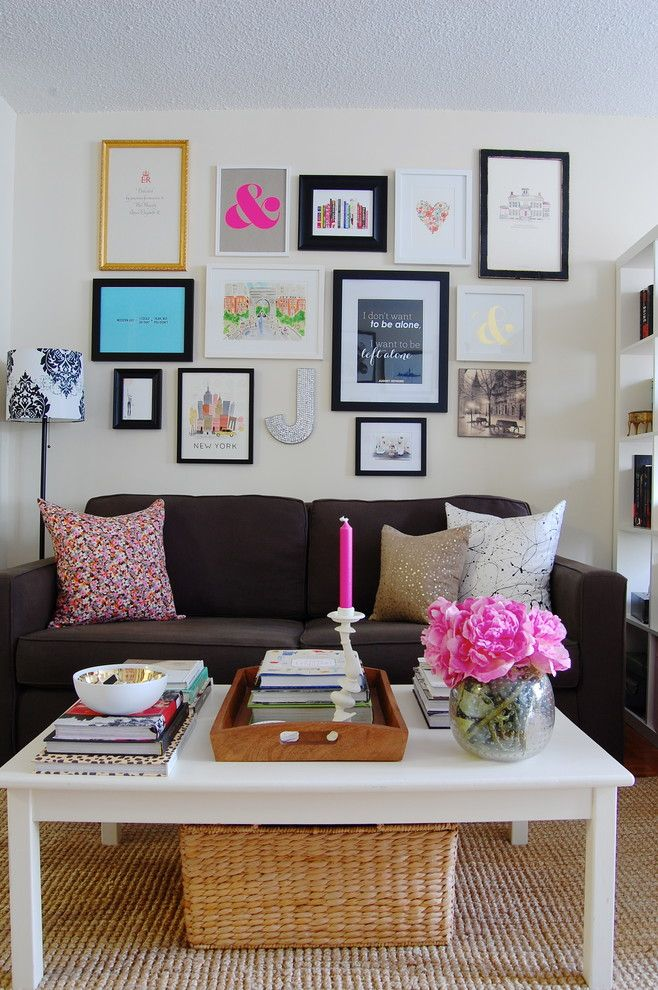 Edmond Furniture Gallery for a Eclectic Family Room with a New York and My Houzz: Sweet Sophistication for a Manhattan Studio by Corynne Pless