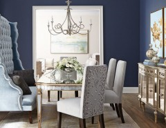 Edmond Furniture Gallery for a Transitional Dining Room with a Velvet Bench and Horchow by Horchow