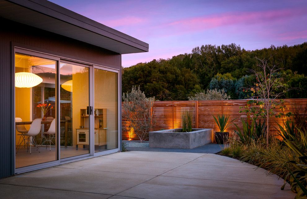 Eichler House for a Midcentury Patio with a Concrete Patio and Eichler in Marinwood by Building Lab, Inc.