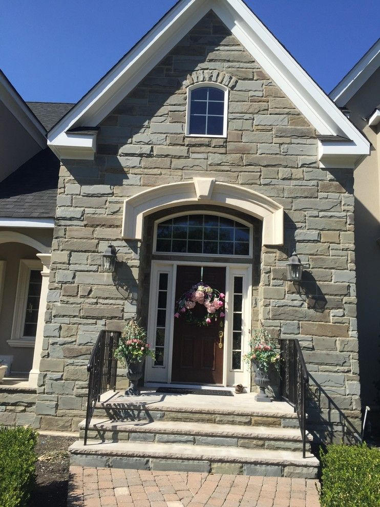 Eifs Siding for a Rustic Entry with a Arcusstone and Martinsville, Nj  Stucco Remediation by Stoneart Designs