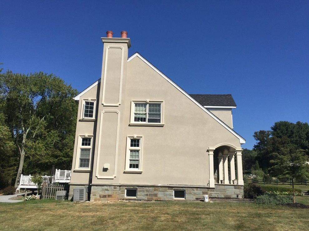 Eifs Siding for a Rustic Exterior with a Drainable Cement Stucco and Martinsville, NJ  Stucco Remediation by Stoneart-Designs