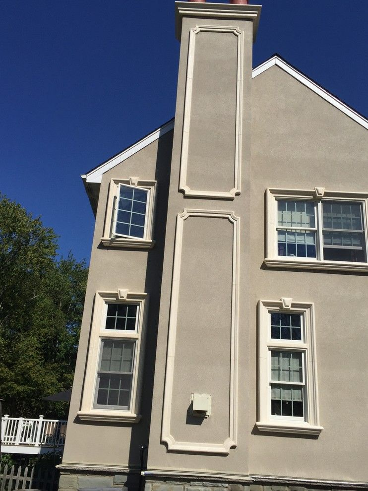 Eifs Siding for a Rustic Exterior with a Hard Coat Stucco and Martinsville, Nj  Stucco Remediation by Stoneart Designs