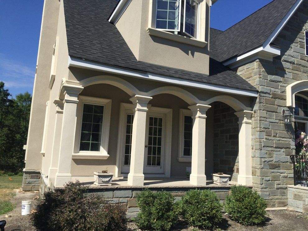 Eifs Siding for a Rustic Exterior with a Siding Stone Veneer and Martinsville, Nj  Stucco Remediation by Stoneart Designs