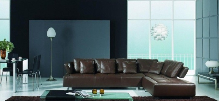 Ektorp Sofa Review for a Modern Living Room with a Brown Leather Sectional Sofa and Brown Leather Sectional Sofa Modern Design by EuroLux Furniture