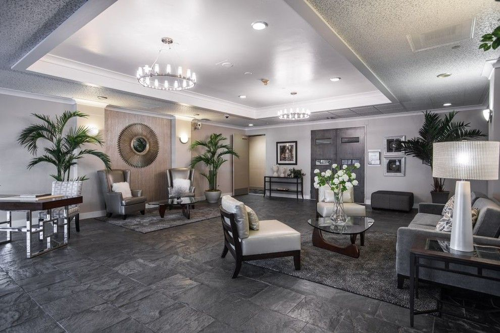 El Dorado Hills Theater for a Contemporary Living Room with a Custom Furniture and Midtown Update by Anne Sacco Interiors, Llc