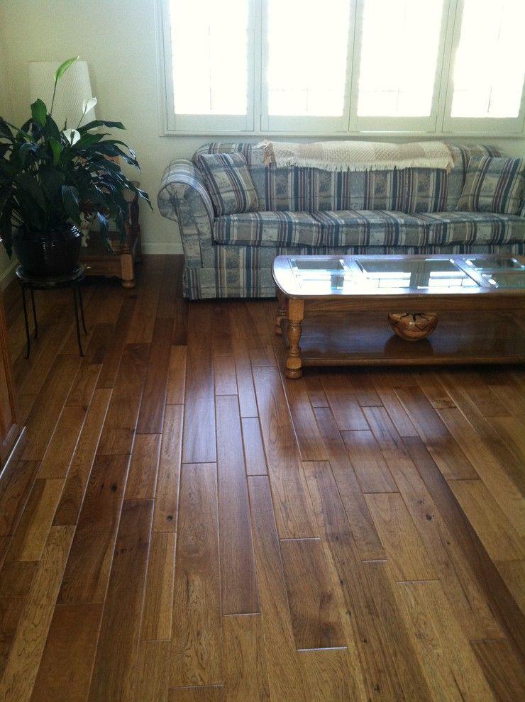 El Dorado Hills Theater for a Traditional Living Room with a Reward Random Walk Hickory Hardwood Flooring and Hardwood Flooring by Precision Flooring
