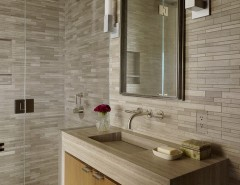 Electic for a Contemporary Bathroom with a Wood Vanity Doors and Taylor Street High-Rise Apartmentt by Sutro Architects
