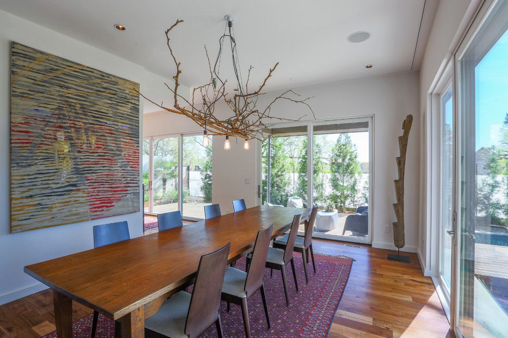 Electic for a Contemporary Dining Room with a Branch Chandelier and 765 Studio/residence, a Modern Residence in Atlanta, Georgia by Tac Studios, Architects