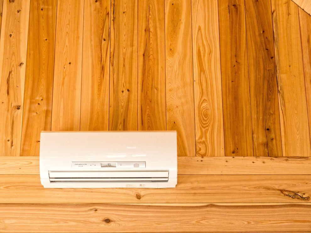 Electic for a Rustic Spaces with a Mini Split and Ductless Mini Split Heat and Air by William Britten