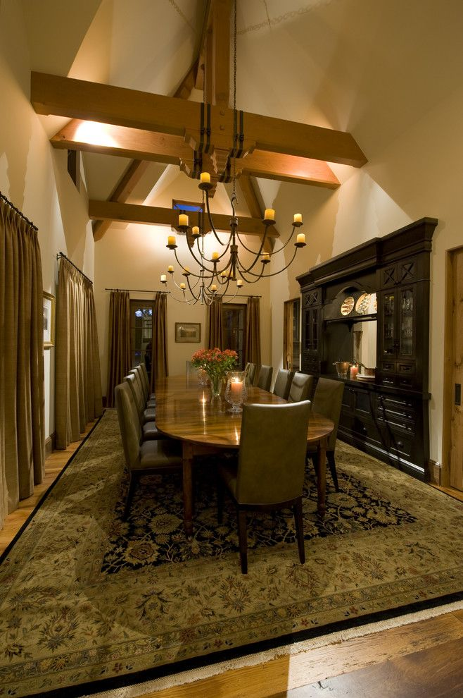 Electric Company Cast for a Traditional Dining Room with a Large Dining Table and Bevolo Gas and Electric Lights by Bevolo Gas & Electric Lights