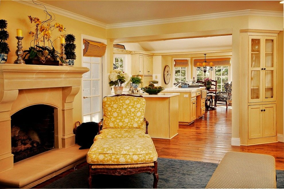 Electric Company Cast for a Traditional Family Room with a Wood Trim and Debra Campbell Design by Debra Campbell Design