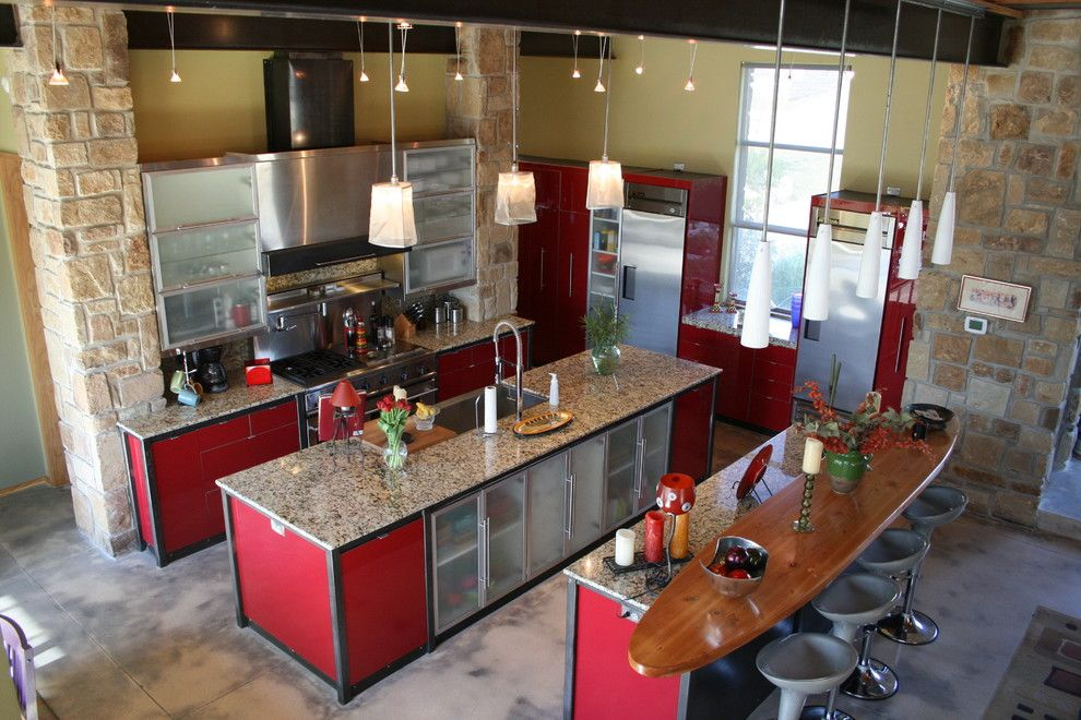 elkay.com for a Contemporary Kitchen with a Stainless Steel Hood and Smith Residence by Stone Masters-JM Design Group
