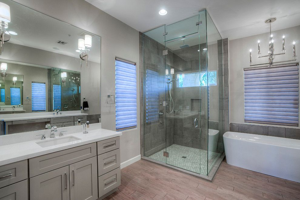 Embassy Suites Scottsdale for a Modern Bathroom with a Design Build and Marioposa Grande Remodel by Alair Homes Scottsdale
