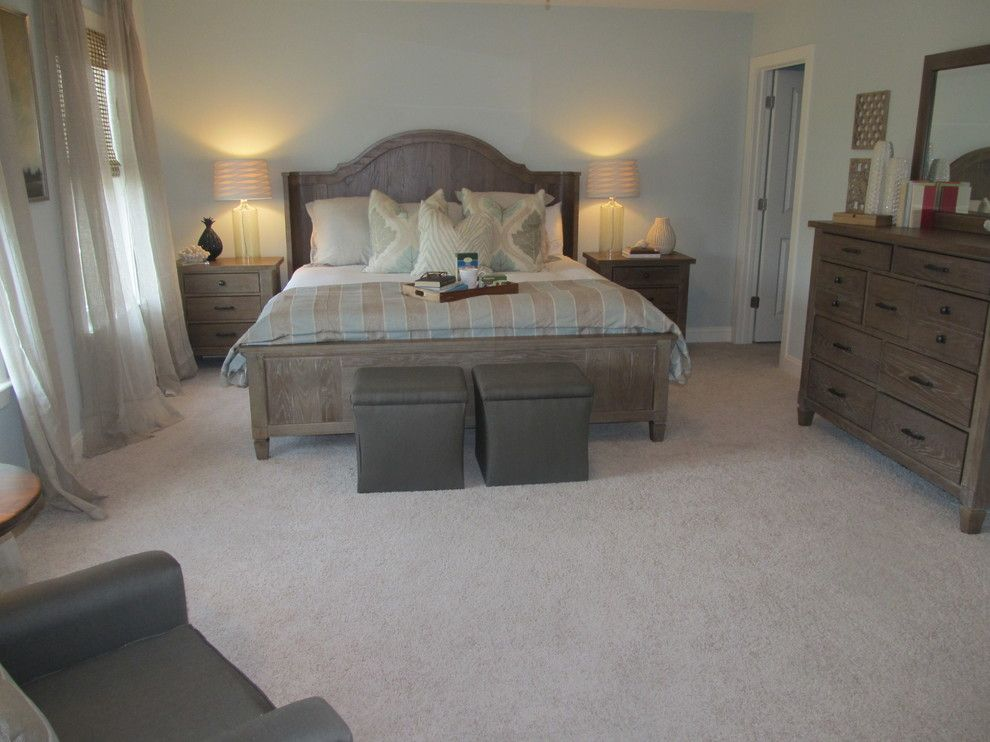 Embellishing for a Traditional Bedroom with a Traditional and Carnes Crossroads Model Home by Embellish Interiors