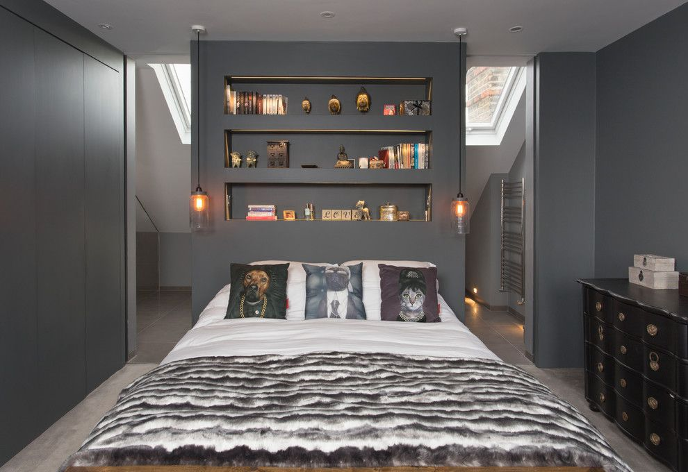 Emkay for a Contemporary Bedroom with a Cat Cushions and Loft Master Ensuite by Frenchstef Interior Design