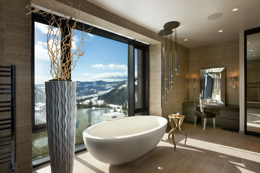 Epcon Communities for a Modern Bathroom with a Mountain Home and Tyrrell and Laing International, Inc. by Tyrrell and Laing International, Inc.