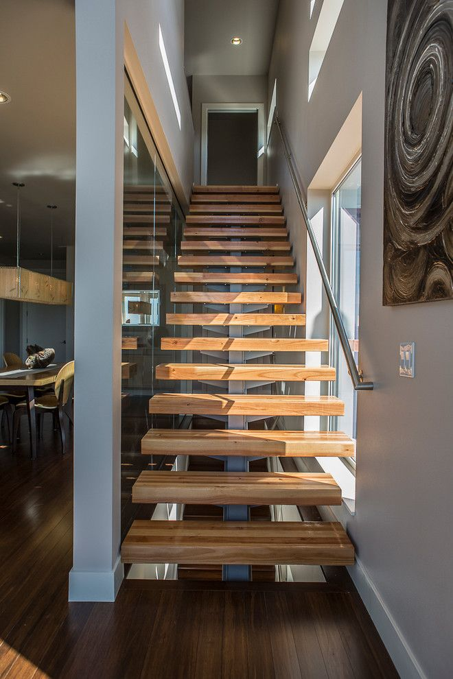 Escala Seattle for a Contemporary Staircase with a Gray Wall and Issaquah Highlands by Coates Design Architects Seattle