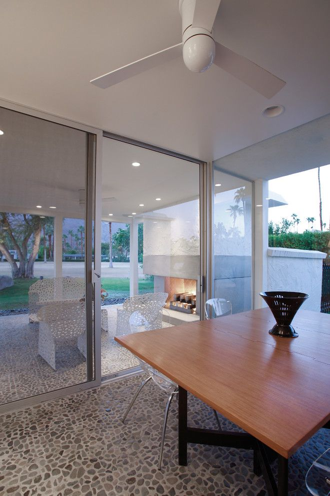 Escena Palm Springs for a Midcentury Patio with a Sliding Glass Door and Palm Springs Modern by Montycollins