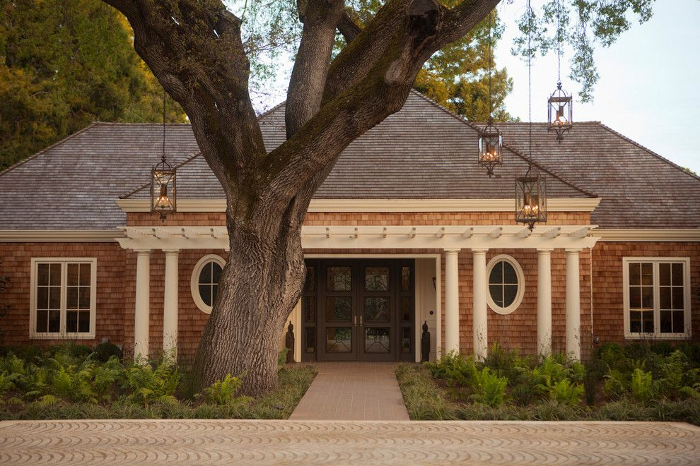 Espalier Fruit Trees for a Traditional Exterior with a Trellis and Selby House by Zeterre Landscape Architecture