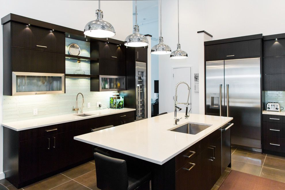 Espreso for a Contemporary Kitchen with a Kitchen Island Sink and Thermador by Thermador Home Appliances