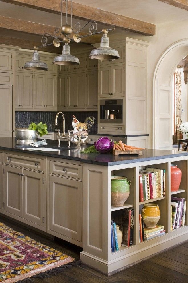 Espreso for a Traditional Kitchen with a Kitchen Shelves and 2009 Southern Accents Showhome by Period Homes, Inc.