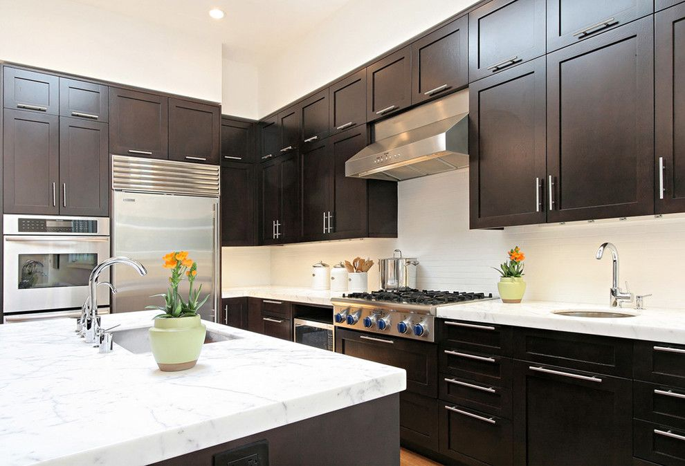 Espreso for a Transitional Kitchen with a Dark Cabinets and San Francisco Whole House Remodel by Dijeau Poage Construction