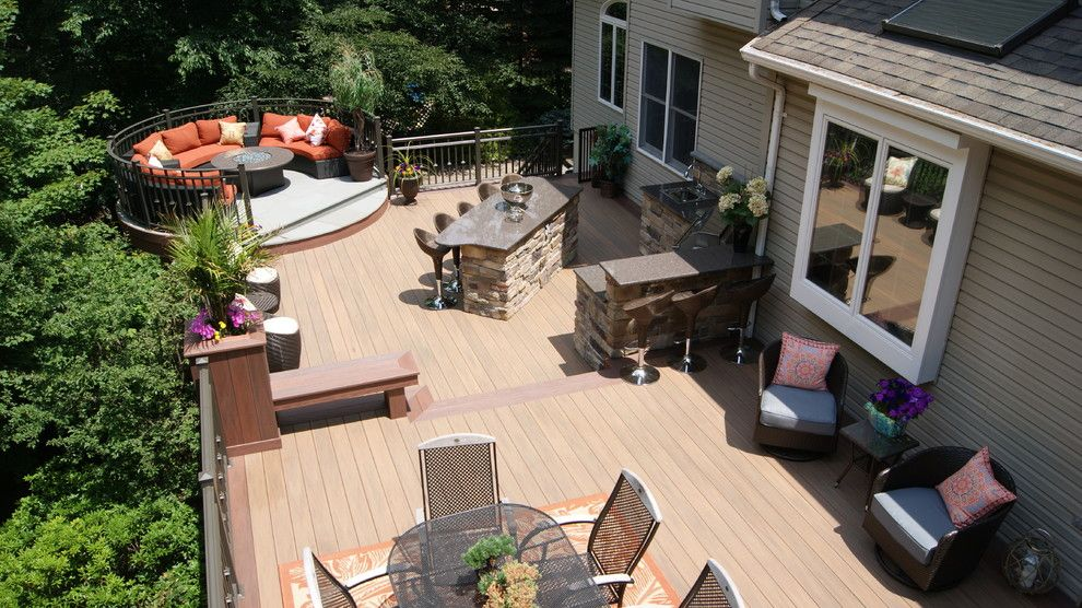 Essex Fells Nj for a Contemporary Deck with a Short Hills and National Award Winning Deck 2014! Luxury Outdoor Living in Denville, Nj by Deck Remodelers.com