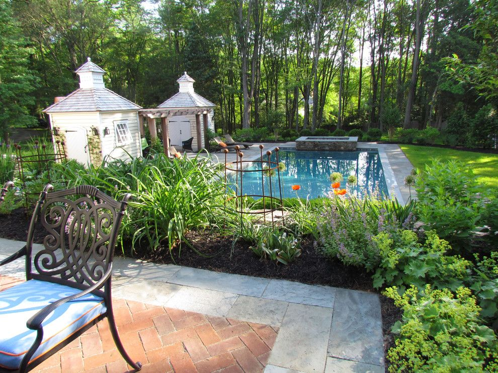 Essex Fells Nj for a Traditional Landscape with a Swimming Pool New Jersey and Timeless Elegance by Harmony Design Group