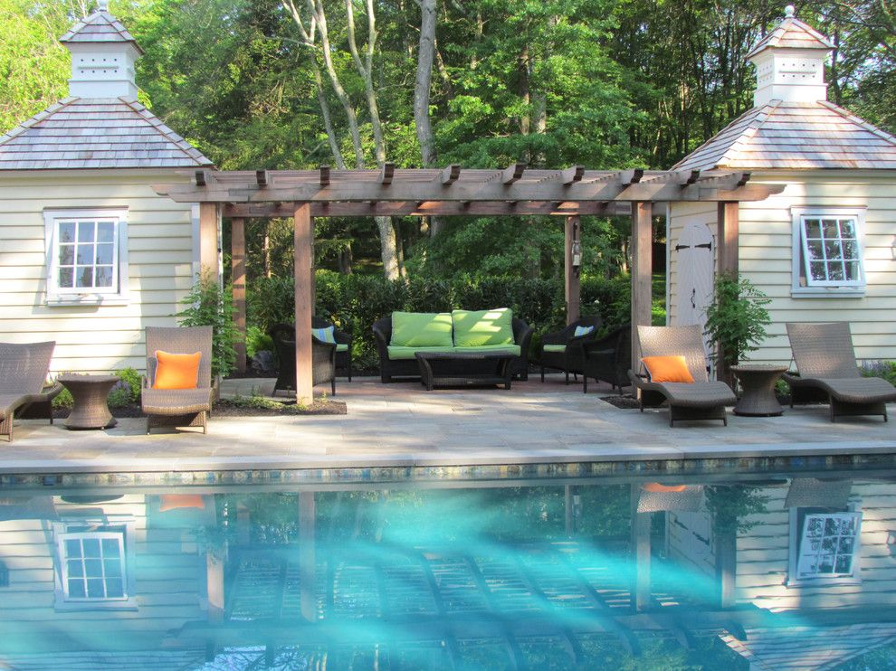 Essex Fells Nj for a Traditional Patio with a Lap Siding and Timeless Elegance by Harmony Design Group