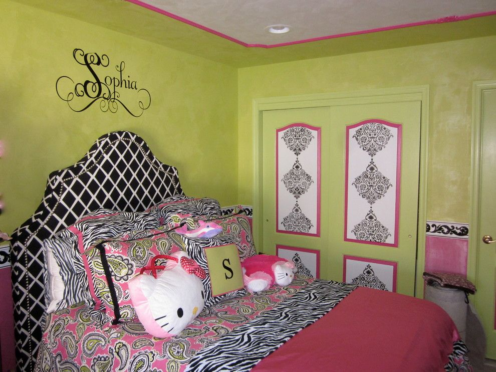 Essex Fells Nj for a Transitional Kids with a Hand Painted Wall Murals and West Orange, Nj Faux Painted Girl's Room by Ariana Hoffman: Ah & Co. Decorative Artisans