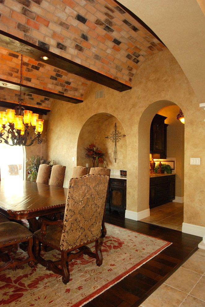 Estancia Austin for a Mediterranean Dining Room with a Mediterranean and Estancia   Custom Mediterranean by a Design by Gustavo Arredondo, Inc.
