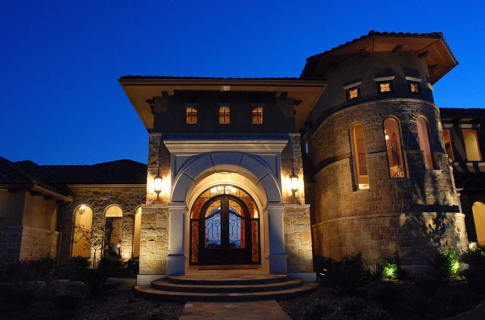 Estancia Austin for a Mediterranean Exterior with a Mediterranean and Estancia   Custom Mediterranean by a Design by Gustavo Arredondo, Inc.