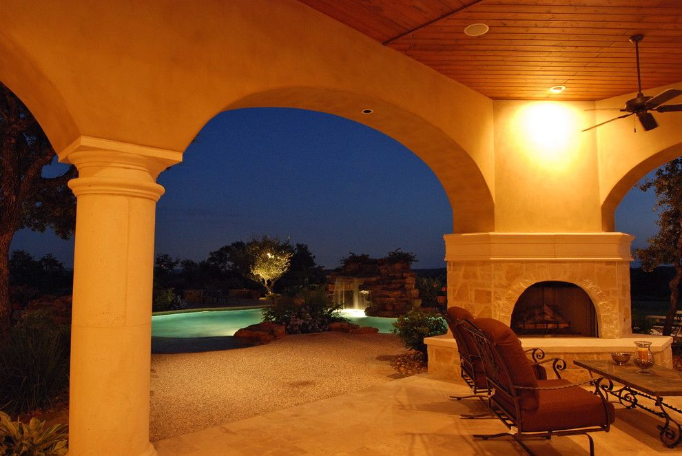 Estancia Austin for a Mediterranean Patio with a Mediterranean and Estancia   Custom Mediterranean by a Design by Gustavo Arredondo, Inc.
