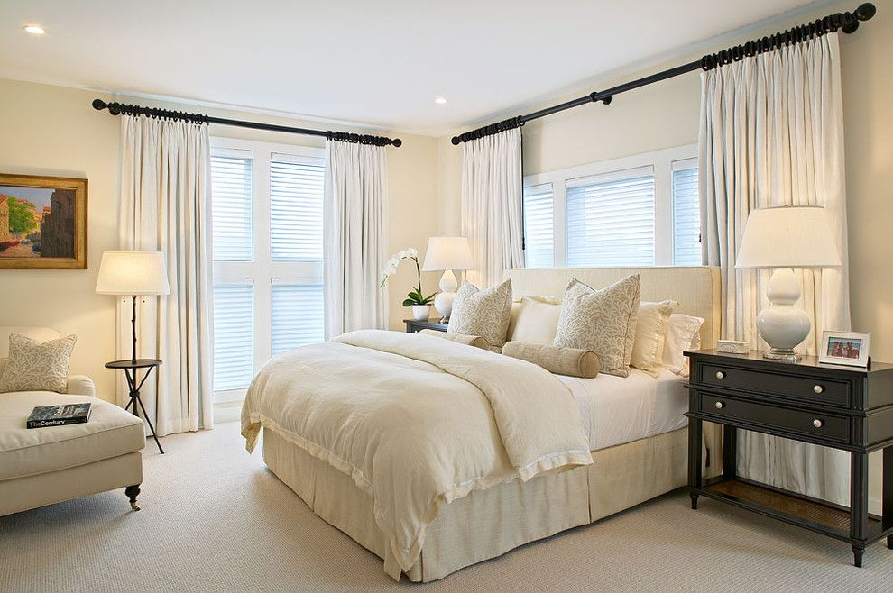 Euro Sham Size for a Beach Style Bedroom with a White Bedroom and Amagansett Beach Retreat by Kitchens & Baths, Linda Burkhardt