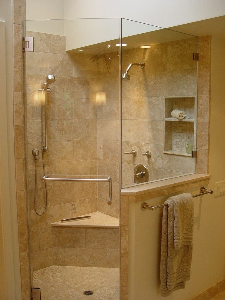 Euro Sham Size for a Contemporary Bathroom with a Frameless Shower and Orinda Residence by Home Systems , Wendi Zampino