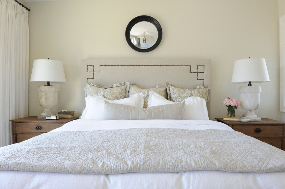 Euro Sham Size for a Traditional Bedroom with a Marble Alabster Lamps and Dunbar Home by Kerrisdale Design Inc