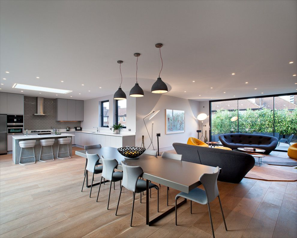 Evergreen Terrace Apartments for a Contemporary Dining Room with a Chris Dyson Architects and Calvin Street - Shoreditch by Peter Landers Photography