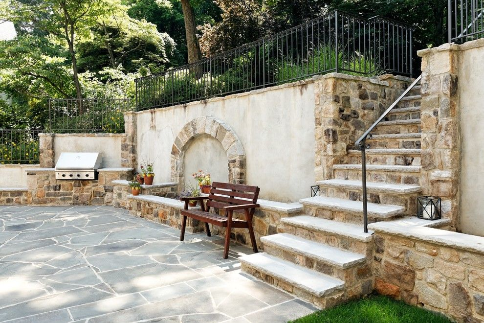 Evergreen Terrace Apartments for a Traditional Patio with a Stone Wall Cap and Case Design/remodeling, Inc. by Case Design/remodeling, Inc.