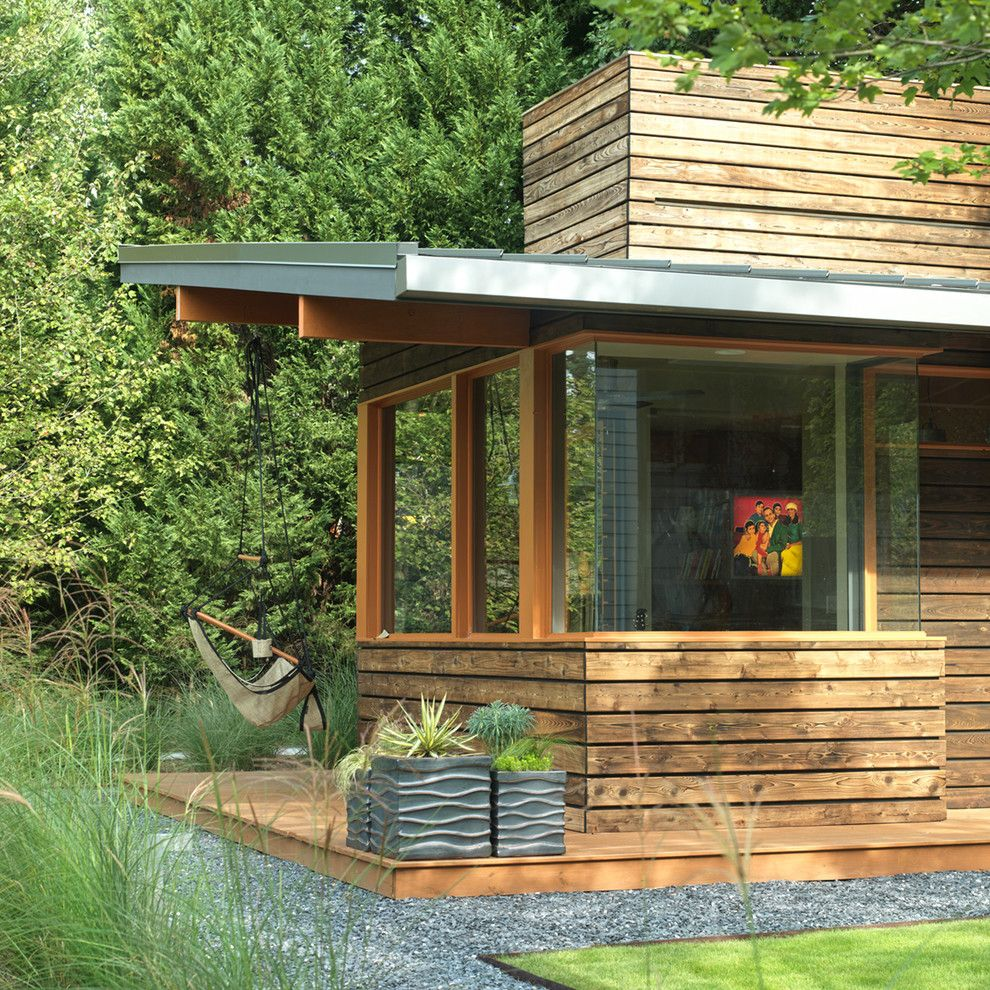 Ewing Irrigation for a Rustic Shed with a Rustic and Writer's Studio by Core Landscape Group