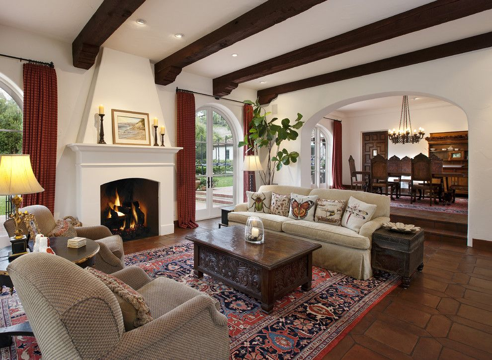 Eyebrow Arch for a Traditional Living Room with a Spanish Colonial and Spanish Colonial by Dd Ford Construction
