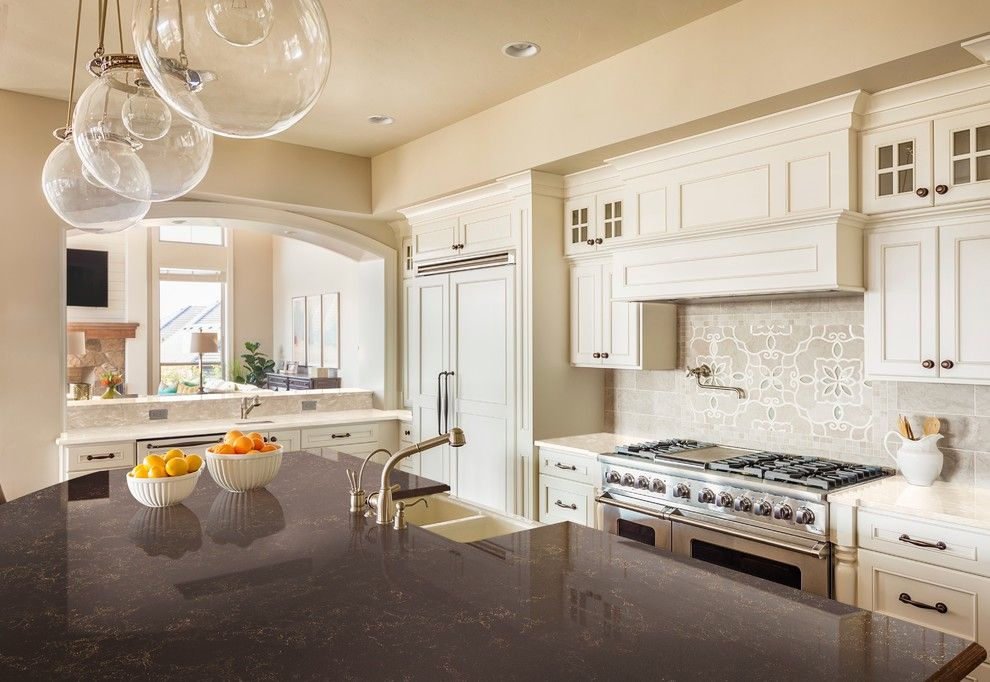 Eyebrow Arch for a Transitional Kitchen with a Transitional and Dupont Corian by Corian® Home Design