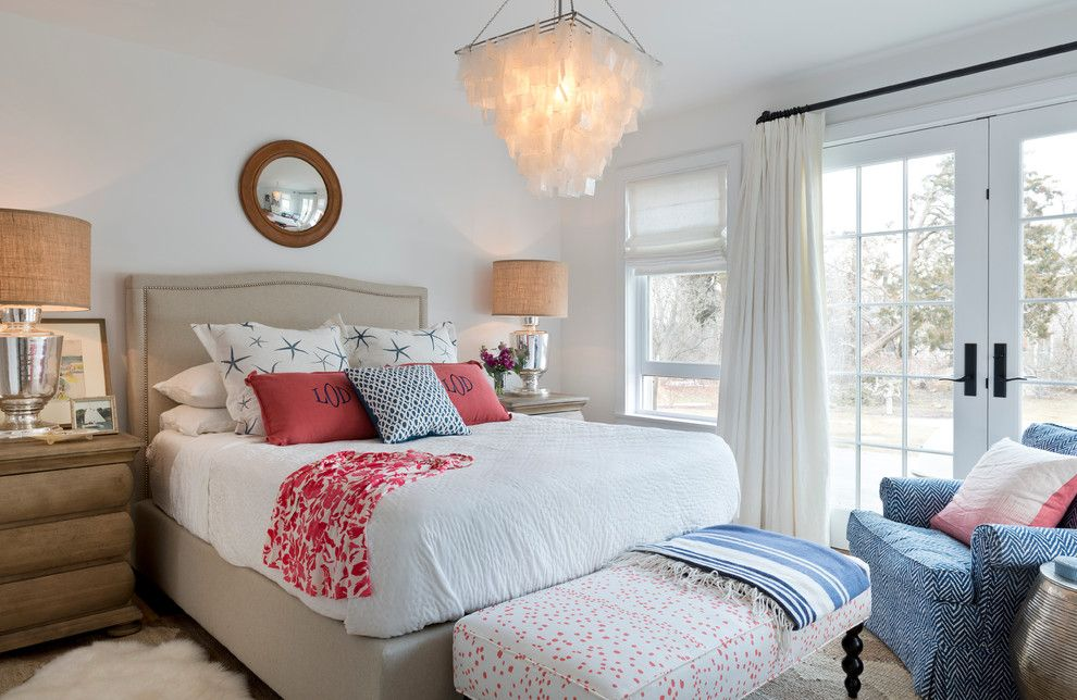 Fabric Stores Charlotte Nc for a Victorian Bedroom with a Lee Industries and Weekapaug by Kate Jackson Design