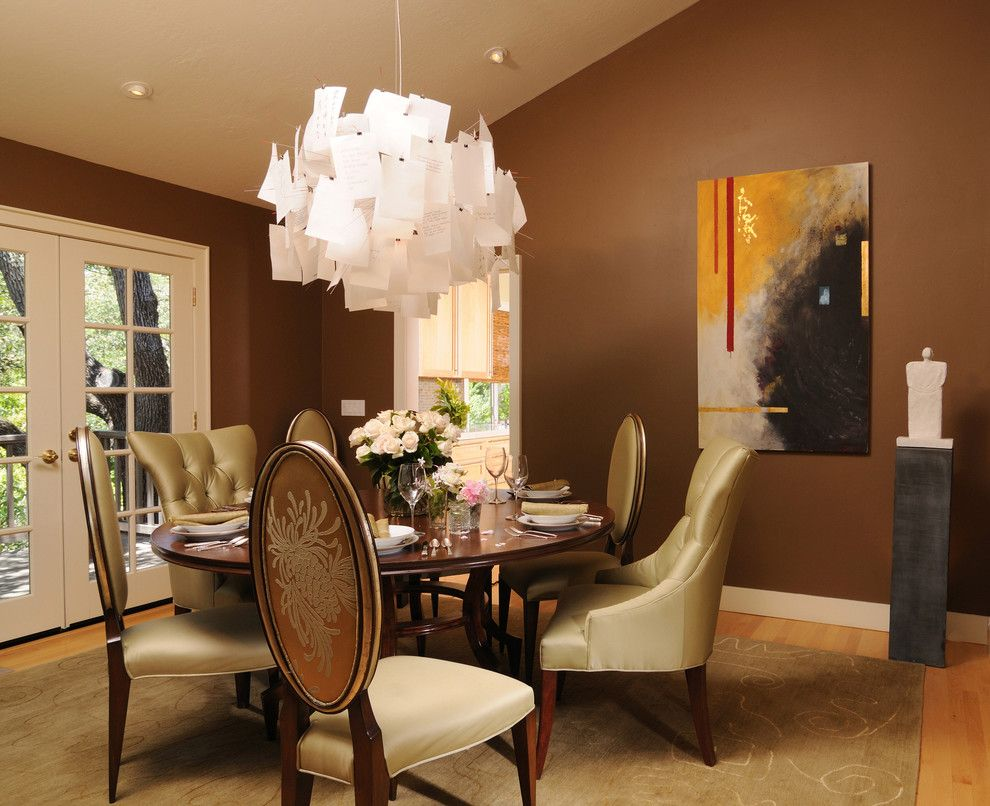 Factory Direct Tulsa for a Eclectic Dining Room with a Upholstered Dining Chair and Los Gatos Residence by Carey & Co