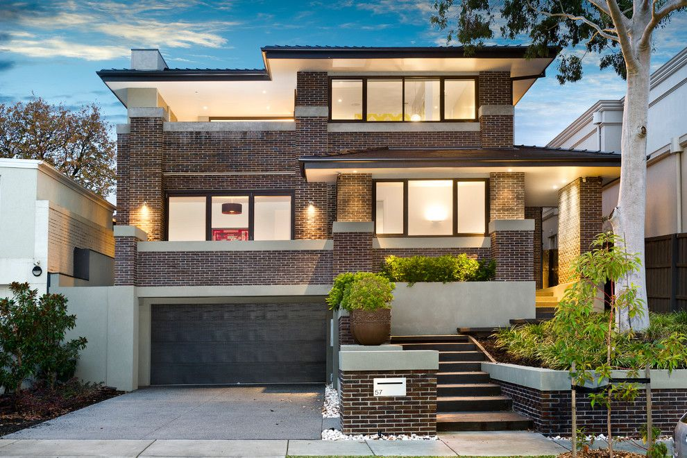 Falling Waters Frank Lloyd Wright for a Contemporary Exterior with a Frank Lloyd Wright Inspired Design and Cityview by the Evolve Group