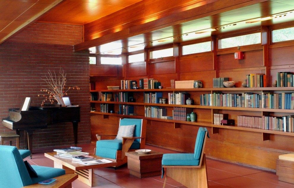 Falling Waters Frank Lloyd Wright for a Modern Living Room with a Modern and Rosenbaum House by Florence Dept. of Arts & Museums