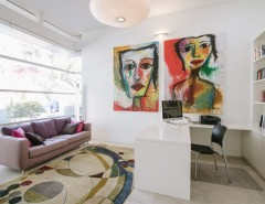 Famous Contemporary Artists for a Contemporary Home Office with a Aluminium Windows and Malvern Residence by Finesse Built