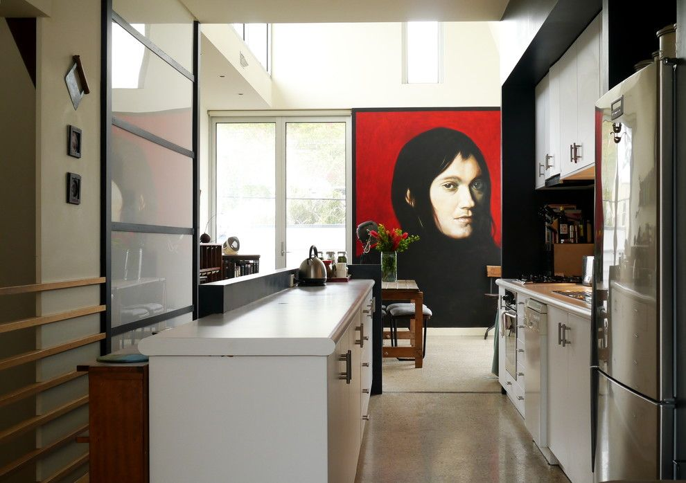 Famous Contemporary Artists for a Industrial Kitchen with a Timber Flooring and Melbourne Photo Shoot #3 by the Room Illuminated