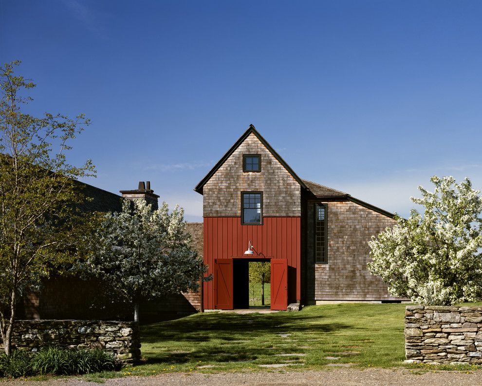 Fannin Tree Farm for a Farmhouse Exterior with a Grass Area and Ny State Farm House by Cba Landscape Architects, Llc