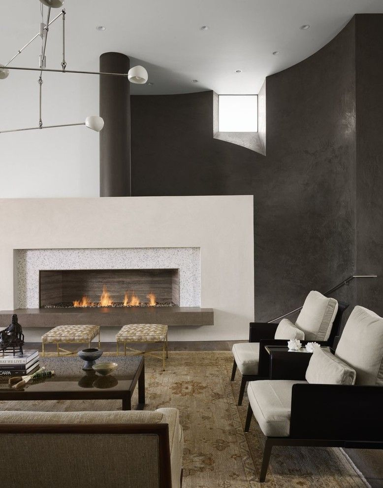 Fans Edge Promo Code for a Contemporary Living Room with a Area Rug and Modern Villa - Living Room by Risinger Homes